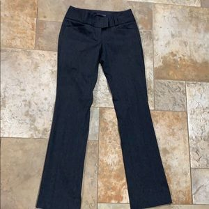 Dark grey trousers